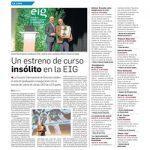 Noticia Granada Hoy – Un estreno de curso 'insólito' en la EIG